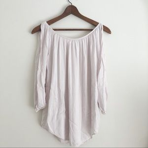 Don't Ask Why Off Pink Open Sleeve Top sz S